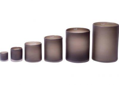 Vaas cylinder mat zwart