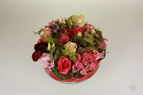 Bloementaart roze