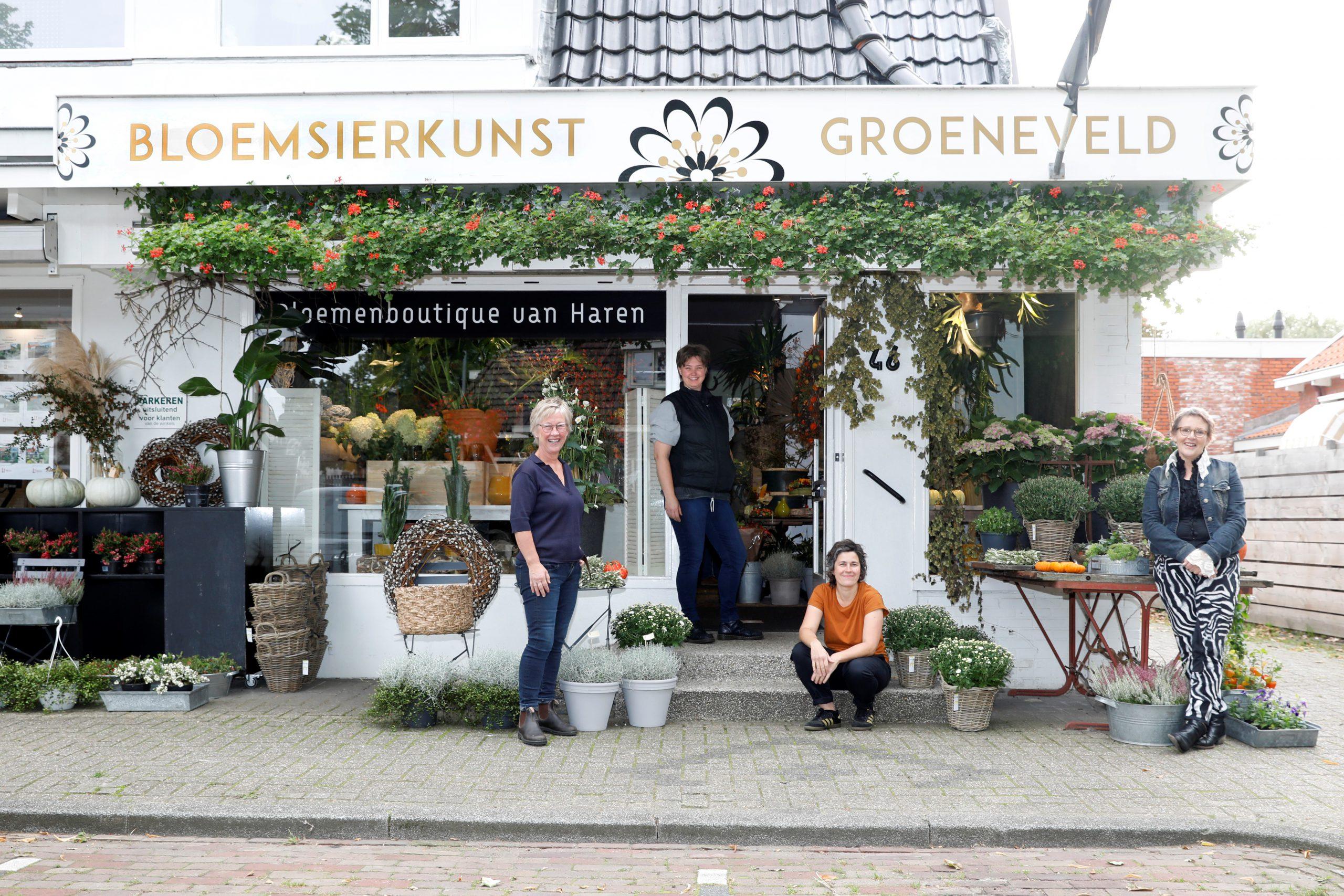 Team van vakbloemisten van Bloemsierkunst Groeneveld te Haren / Groningen