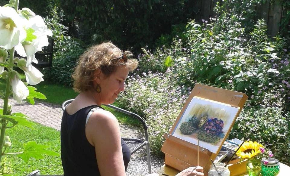 Bloemenkaarten Tineke van der Veen