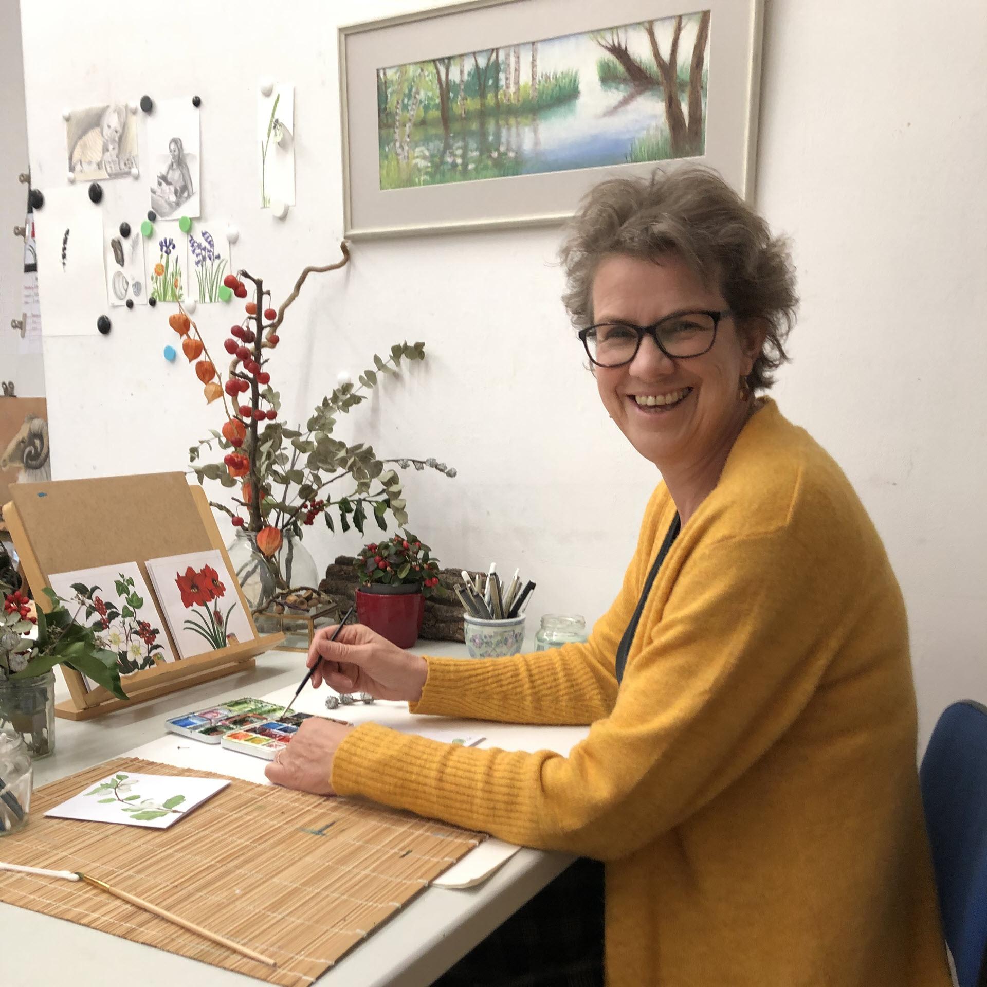 Bloemenkaarten Bloemsierkunst Groeneveld zijn getekend door Tineke van der Veen uit Haren / Groningen